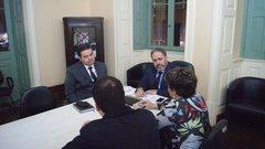 Reunião aconteceu no Paço Municipal.
