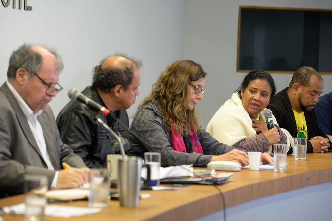 Questões relacionadas à regularização de área ocupada pela comunidade Romeu Samarini Ferreira. Na foto, a moradora do Loteamento Romeu Samarani Ferreira, Leonice de Deus.