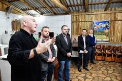 Visita conjunta COSMAM e CEFOR à área rural de Porto Alegre para discutir os impactos da revisão da planta do IPTU em Porto Alegre. Na foto:Cesar Pastro, André Carús, Jacson Lumertz e técnicos integrantes da Sec. da Fazenda do Município
