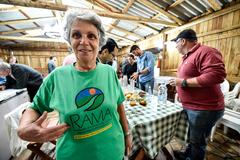 Visita conjunta COSMAM e CEFOR à área rural de Porto Alegre para discutir os impactos da revisão da planta do IPTU em Porto Alegre. Na foto:Maria da Glória Becker da Silveira, proprietária do Sítio Santa Fé