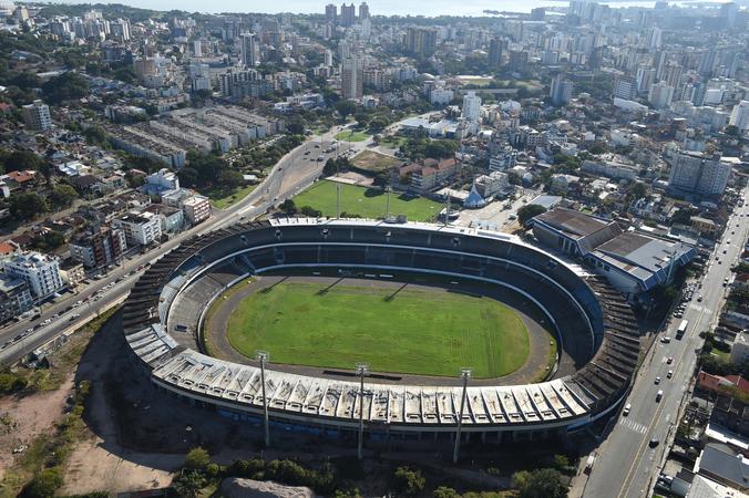 Vista aérea do estádio Olímpico.