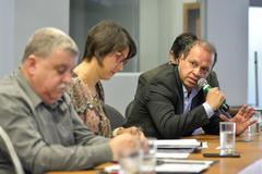 Reunião Conjunta CEDECONDH/CUTHAB sobre os condomínios e a segurança pública no extremo sul. Na foto, o vereador Paulinho Motorista.