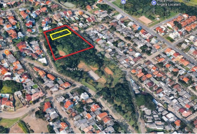 Área de cerca de 30m² (em amarelo) seria transformada em APP