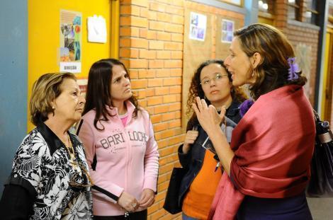 Cece constatou insegurança na escola Foto: Elson Sempé Pedroso