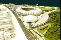 Perspectiva do novo Beira-Rio, após obras do projeto enviado à Câmara Foto: Divulgação / CMPA