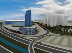 Perspectiva do Projeto Arena no bairro Humaitá Foto: Divulgação