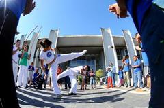 Capoeira foi uma das atrações do dia Foto: Elson Sempé Pedroso