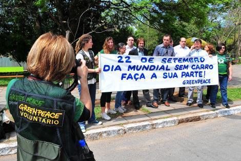 Ato teve por local Parque Moinhos de Vento  Foto: Elson Sempé Pedroso