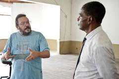 Visita à Associação dos Moradores da Vila Cefer 2 - AMC 2. Na foto: Vereador Tarciso Flecha Negra e representante do Movimento Popular Jardim Carvalho Jairo Bock