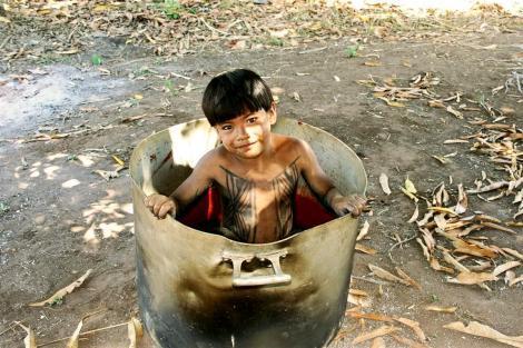 Brincadeiras no Parque do Xingu Foto: Sandra Genro