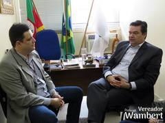 Marcio Redmann e Professor Wambert falam sobre projetos na área de odontologia.