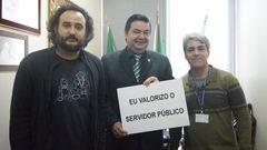 Professor Wambert com os servidores Jose Augusto Marchand Castro e João Marcelo Osório.