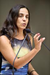 Retrato da vereadora Fernanda Melchionna.