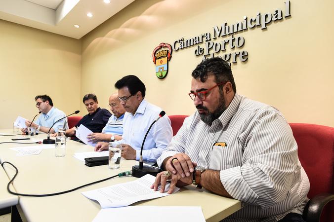 Reunião da Comissão Especial do Transporte Coletivo. Na foto, vereador Clàudio Janta, relator