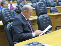 Vereador em exercício participou do plenário para as votações e discussões da semana.