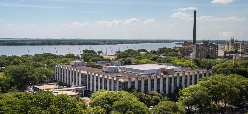 Vista da Câmara Municipal, Palácio Aloísio Filho. Fachada.