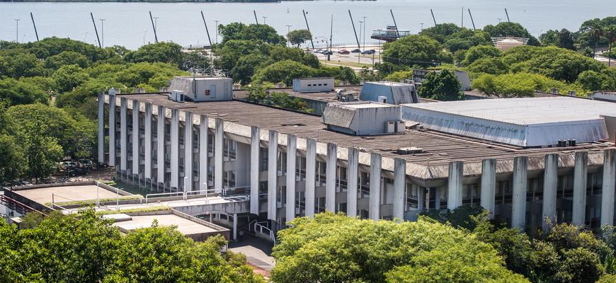 Vista aérea do Palácio Aloisio Filho, sede da Câmara