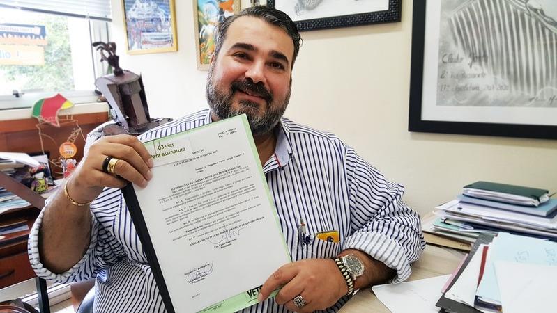 Vereador Clàudio Janta, autor do projeto.