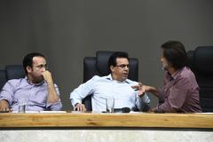 Votação do relatório final da Comissão Especial do Transporte Coletivo. Na foto, vereadores Moisés Barboza, Alvoni Medina e Aldacir Oliboni