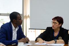 Reunião extraordinária da CECE com a Secretária-Adjunta da Secretaria de Educação do Estado do RS Iara Sílvia Lucas Wortmann. Na foto, o presidente da comissão Tarciso Flecha Negra e a secretária-adjunta.