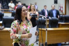 Suplente Cláudia Araújo no Plenário Otávio Rocha