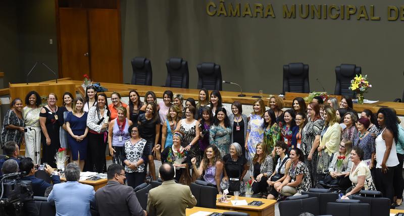 Dia das mulheres na CMPA. Movimentação de plenário.