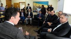 Visita do pré-candidato à presidência pelo PRB, Flávio Rocha. Na foto: presidente da CMPA, Valter Nagesltein (d) e Flávio Rocha (e)