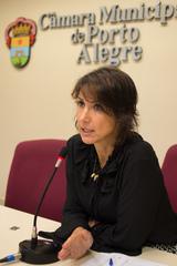 Reunião da CEDECONDH sobre a Ocupação Mulheres Mirabal. Na foto, a vereadora Comandante Nádia.