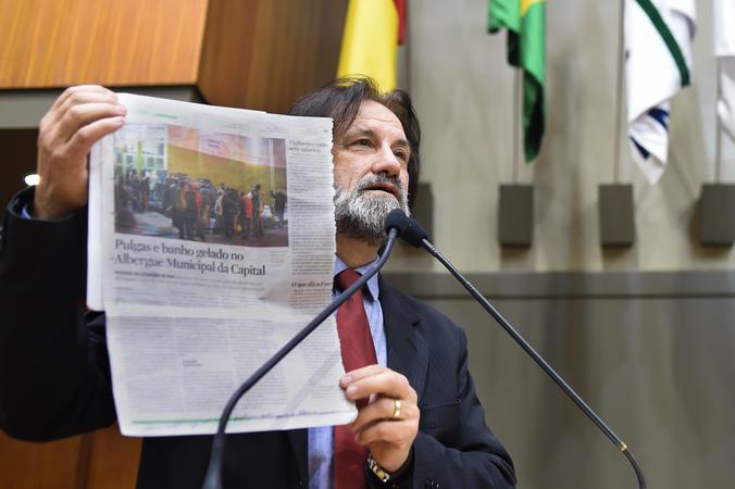 Movimentação de plenario. Na foto: vereador Aldacir Oliboni
