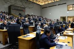 Plenário Otávio Rocha na tarde desta segunda-feira