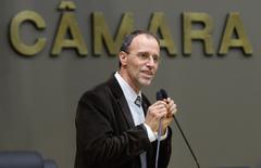 Movimentação de Plenário. Na foto, o vereador Marcelo Sgarbossa na tribuna.