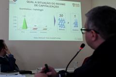 Esclarecimentos sobre os PLCEs nº 007/18 e 009/18 em tramitação na Câmara Municipal de Porto Alegre. Na foto, o Diretor Geral do Previmpa, Renan da Silva Aguiar.