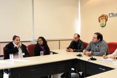 Fechamento do Conselho Tutelar da Microrregião 7. Na foto: Vanessa Rosa (e), Shayene da Silva, vereadores João Bosco Vaz e Dr. Thiago