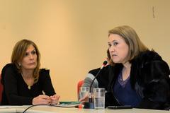 Fechamento do Conselho Tutelar da Microrregião 7. Na foto: vereadora Mônica Leal e Inglacir Delavedora