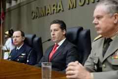 Presidente Valter Nagelstein preside Sessão Solene em homenagem aos 100 anos do Tribunal de Justiça Militar do Estado do Rio Grande do Sul.