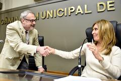 Período de comunicações ocupado pelo presidente da ADUFRGS Sindical, Sr. Paulo Machado Mors.