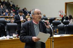 Vereador Ferronato no Plenário Otávio Rocha