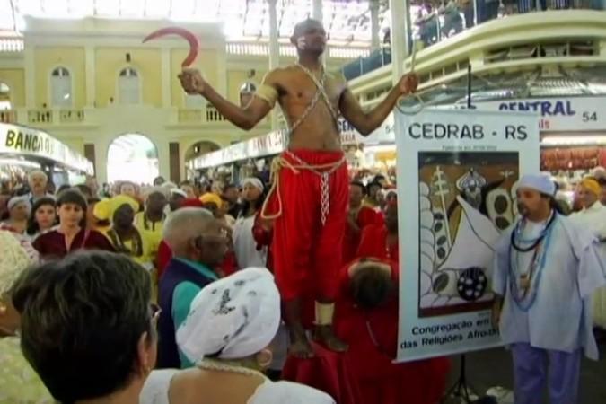 Cine Câmara: A Tradição do Bará no Mercado Público. Foto: Reprodução