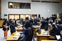 O Plenário Otávio Rocha na sessão desta segunda-feira