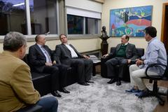 Nagelstein (d) recebeu Sartori e dirigentes do MDB e PSB