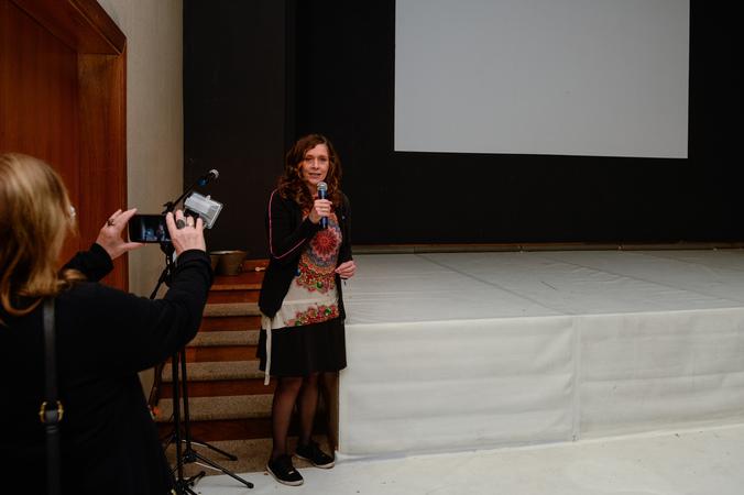 Abertura da IV Mostra de Artes Cênicas e Música do Teatro Glênio Peres. Na foto, a vereadora Sofia Cavedon.