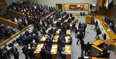 O Plenário Otávio Rocha durante a sessão ordinária desta segunda-feira