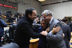 Parlamentar da Rede (direita na foto) atuará em parceria com Moisés Barboza
