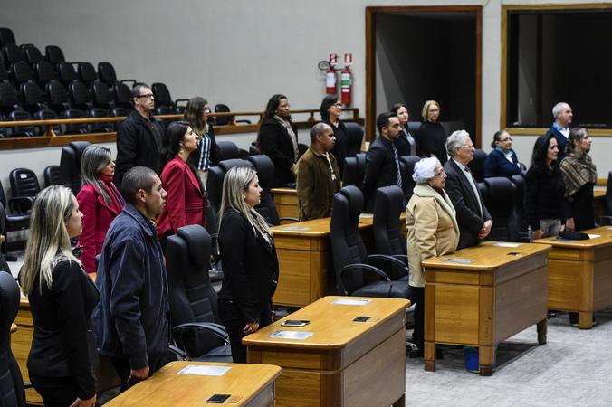 Sessão Solene de outorga do Título de Cidadão Emérito de Porto Alegre a Cleo Danilo Jaques.