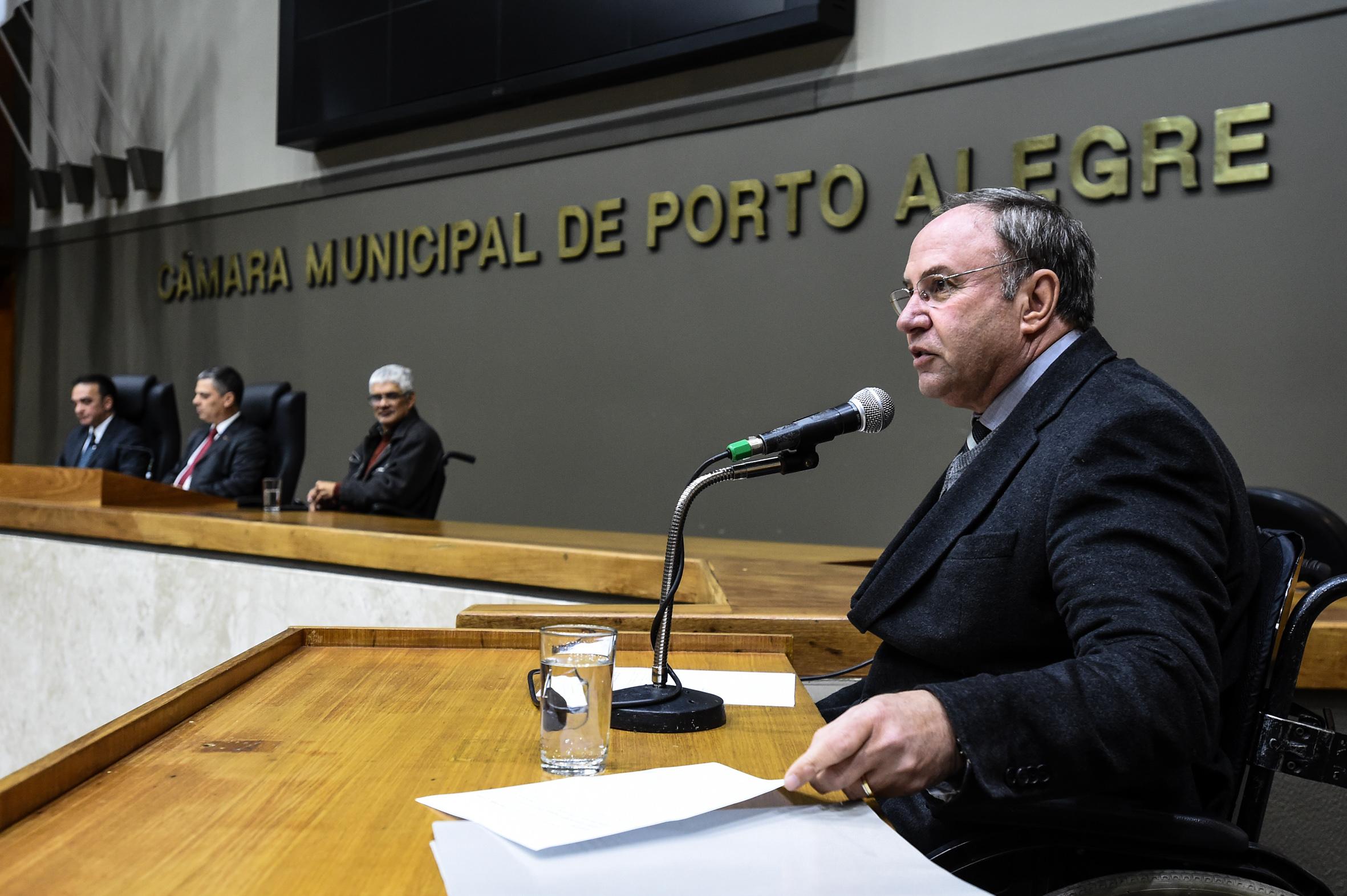Vereador Paulo Brum é o proponente da solene