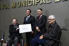 Paulo Brum (e), Jaques, Cássio Trogildo e Calil (d)