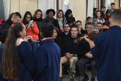 A cerimônia contou com apresentação de crianças e jovens da Fundação Pão dos Pobres