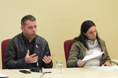 Projeto de Lei sobre estações rádio base. Na foto: chefe de fiscalização da Anatel, Maurício Perone e vereadora Fernanda Melchionna