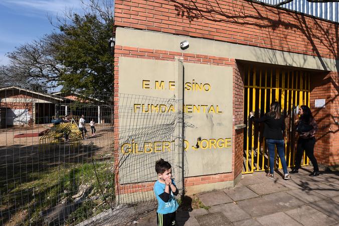 Visita à EMEF Prof. Gilberto Jorge.