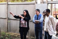 Visita à EMEF Prof. Gilberto Jorge. Na foto, diretora da escola, Adriana Moreira e vereadores Cassiá Carpes e Tarciso Flecha Negra